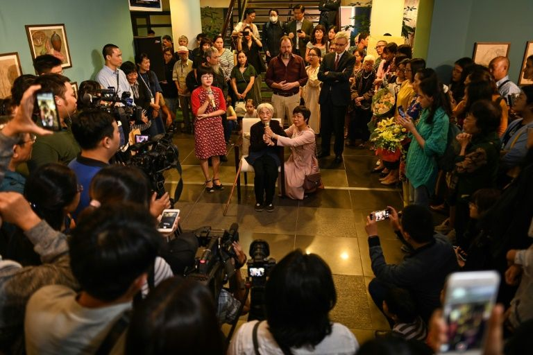 There is growing acknowledgement that Bich's life, and her paintings, are testimony to what many went through in 20th century Vietnam. Photo: AFP
