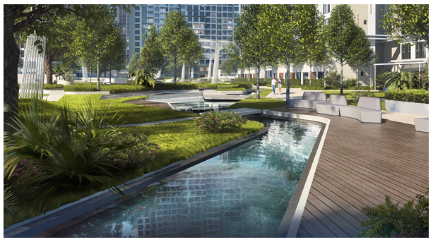 Masteri Centre Point's green areas and diversified internal facilities are uniquely designed with nature in mind.
