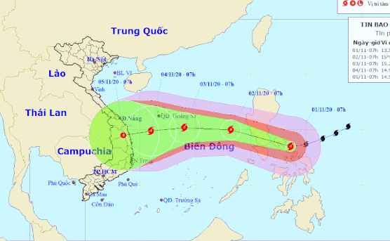 Goni, year's strongest storm, heads to East Vietnam Sea following landfall in Philippines