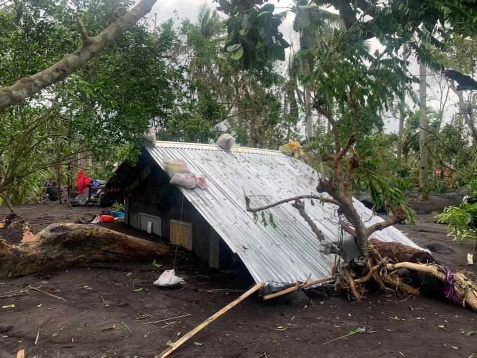 View of Typhoon Goni's aftermath in San Francisco, Guinobatan, Albay province, Philippines where an estimated 300 homes got buried with mudflow and armor rocks from nearby Mayon Volcano, November 1, 2020. Photo: Facebook/Rep. Zaldy Co via Reuters