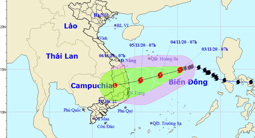 Storm Goni to make landfall in south-central Vietnam this week