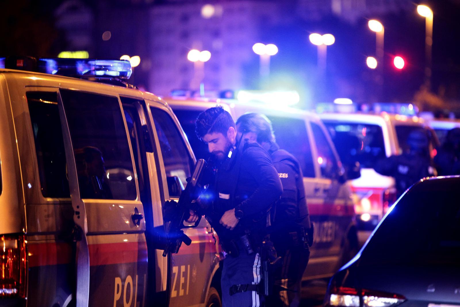 Police blocks a street near Schwedenplatz square after exchanges of gunfire in Vienna, Austria November 2, 2020. Photo: Reuters