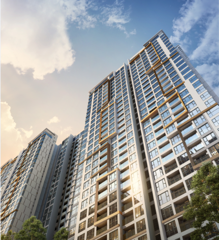 Remarkable exterior architectural design emphasises the stunning esthetic of each tower.