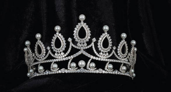 This supplied photo shows Miss Vietnam 2020's crown for the first runner-up.