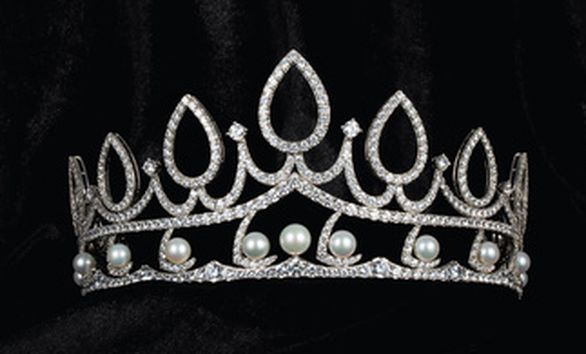 This supplied photo shows Miss Vietnam 2020's crown for the second runner-up.