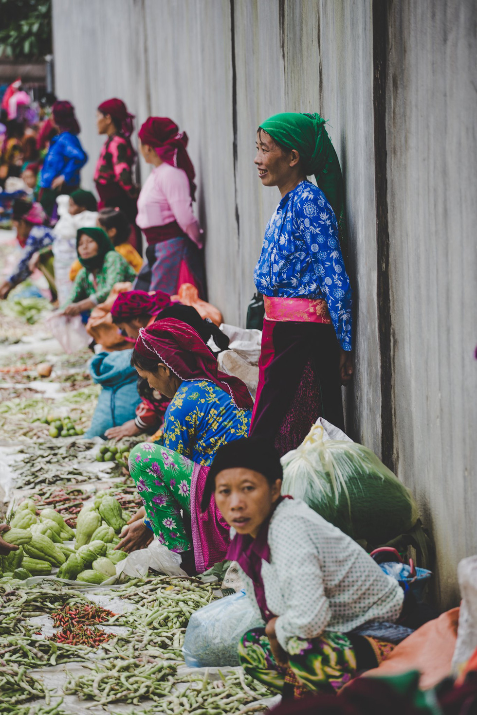 Women from ethnic minority groups are seen at a market in the northwest region of Vietnam. Photo by Thibault Clemenceau