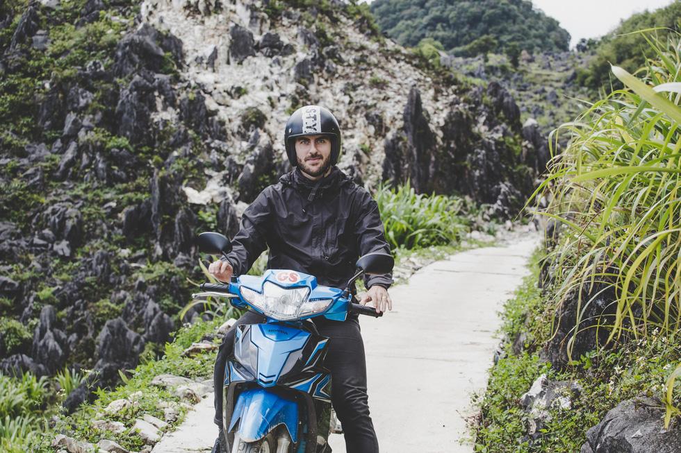 Thibault Clemenceau is seen in a photo taken during a trip to Vietnam's northwest mountainous region