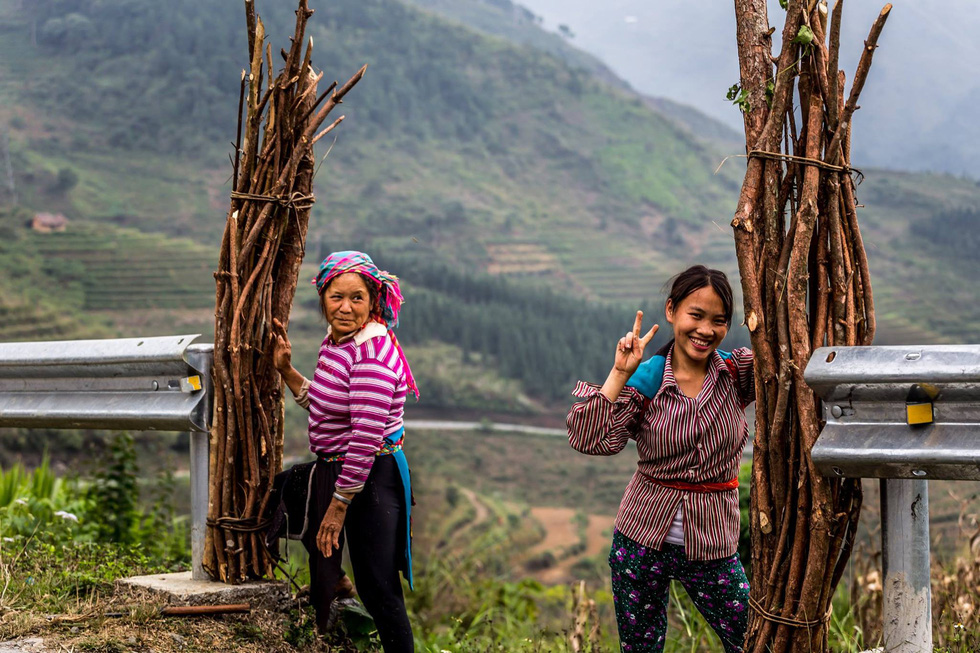 Two women in the northwest region of Vietnam are captured in a photo by Thibault Clemenceau