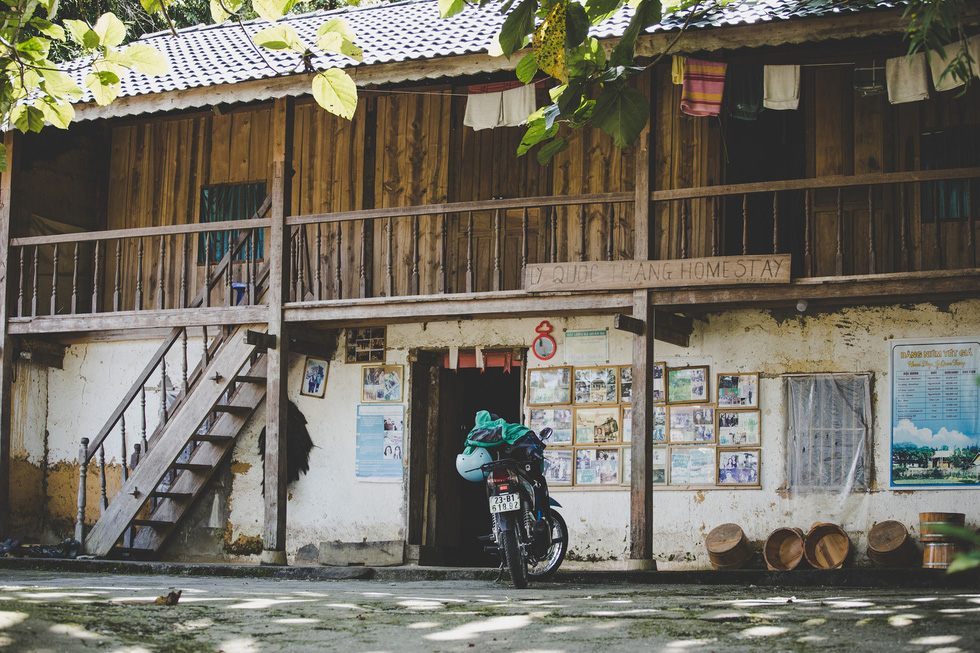 A photo captured by Thibault Clemenceau at a homestay he stayed during a trip to Vietnam's northwest mountainous region
