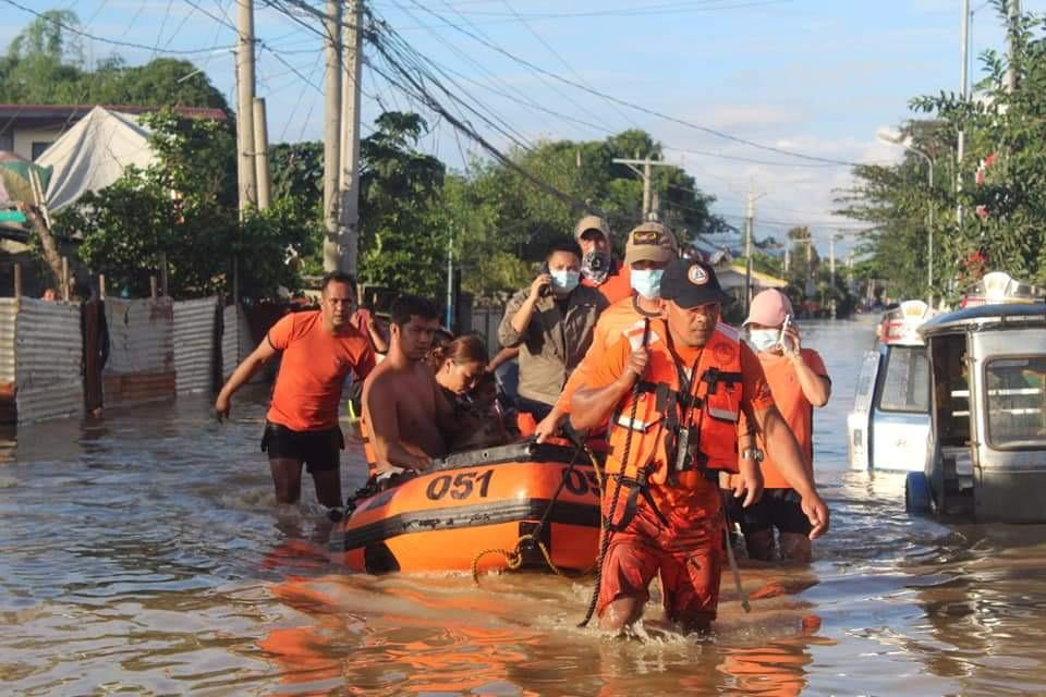 Philippine Coast Guard conduct a rescue operation, after Typhoon Vamco resulted in severe flooding, in the Cagayan Valley region in northeastern Philippines, November 13, 2020. Picture taken November 13, 2020. Mandatory credit Philippine Coast Guard/Handout via Reuters