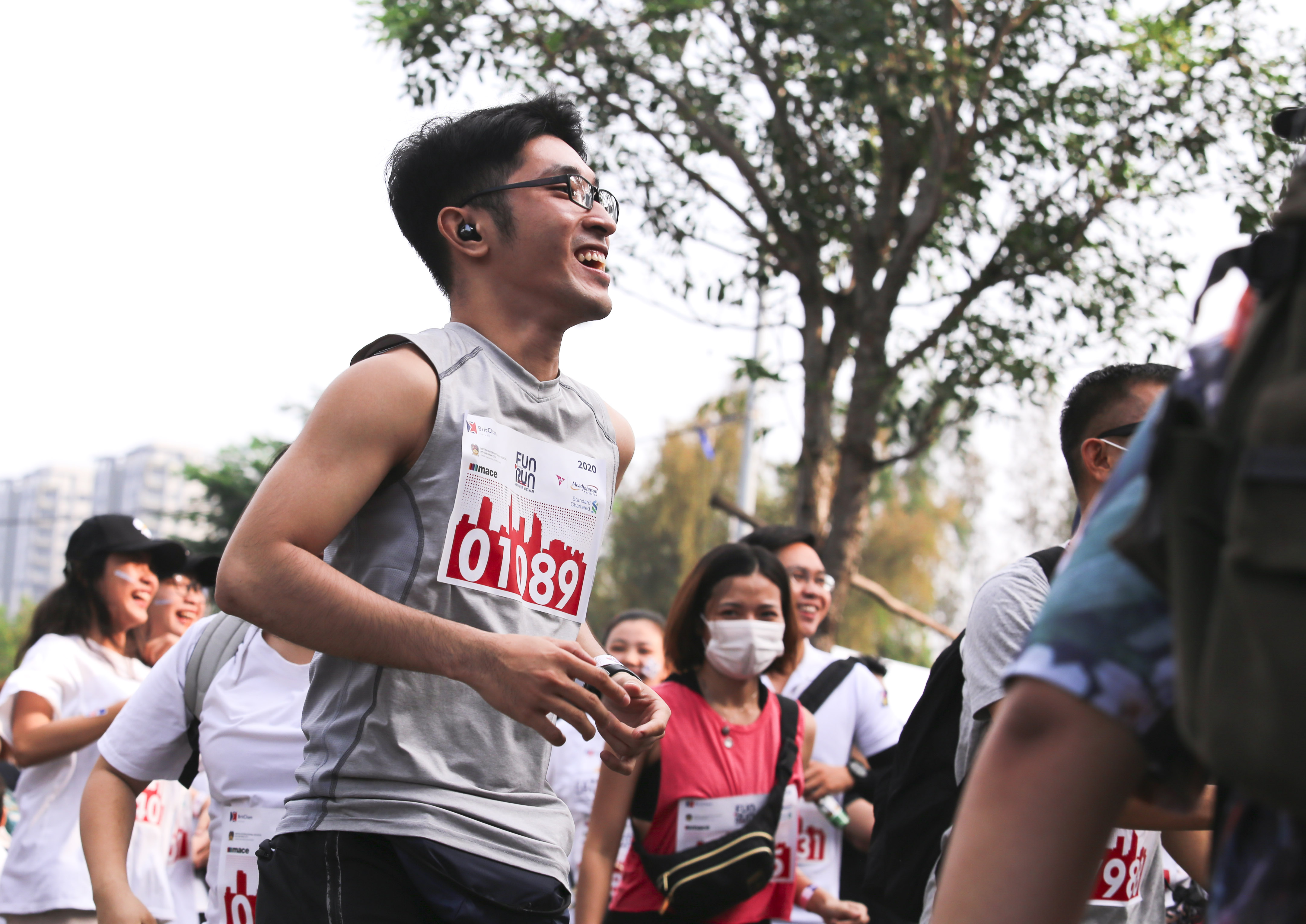 People are seen with enthusiasm at the 20th BritCham Charity Fun Run in Ho Chi Minh City on November 15,2020. Photo: Duc Khue/ Tuoi Tre