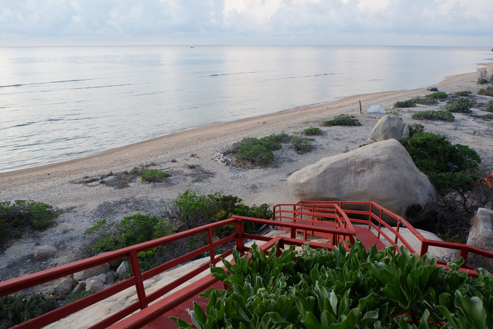 Thit Beach is viewed from the house. Photo: Son Lam/ Tuoi Tre