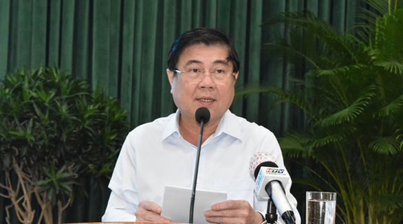 Nguyen Thanh Phong, chairman of Ho Chi Minh City People's Committee, speaks at a conference. Photo: D.P. / Tuoi Tre