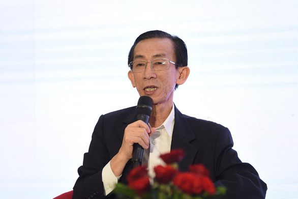 Tran Hoang Ngan, director of Ho Chi Minh City Institute for Development Studies (HIDS), speaks at the conference. Photo: Duyen Phan / Tuoi Tre