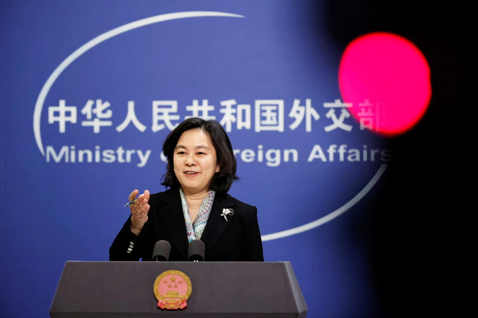 Chinese Foreign Ministry spokeswoman Hua Chunying holds a news conference in Beijing, China, November 30, 2020. Photo: Reuters
