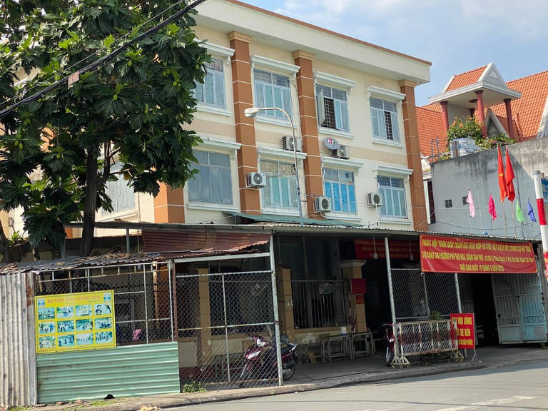The police station in Phu Tho Hoa Ward, Tan Phu District, Ho Chi Minh City. Photo: Quang Dinh / Tuoi Tre
