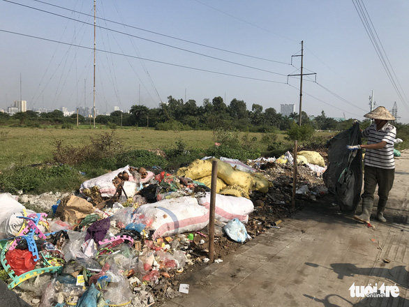 A garbage dump in Thanh Tri District of Hanoi.