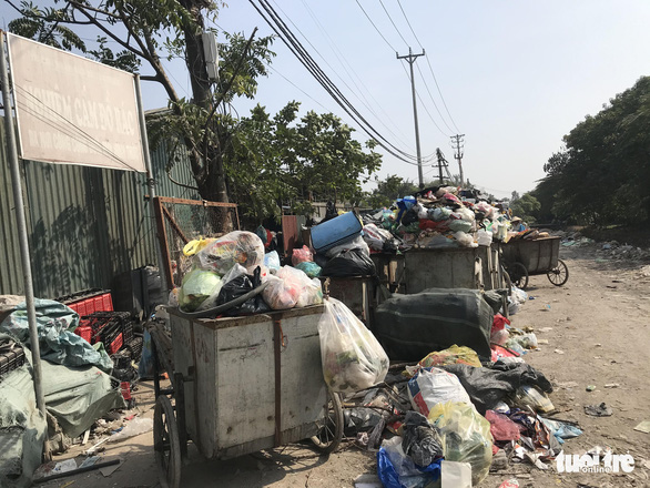 Garbage carts in Tan Trieu Commune of Thanh Tri District in Hanoi