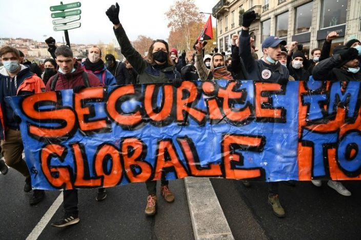 Outside the capital, demonstrations were held in Lyon, pictured here, as well as Montpellier, Strasbourg, Lille, Bordeaux, Toulouse and Marseille. Photo: AFP