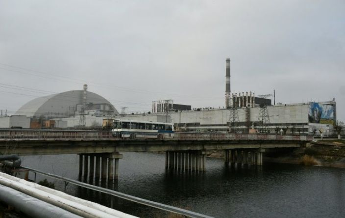 The structure of the New Safe Confinement (NSC) covering the 4th block of the Chernobyl Nuclear Power Plant, which was destroyed during the Chernobyl disaster in 1986, is pictured on November 22, 2018. Photo: AFP