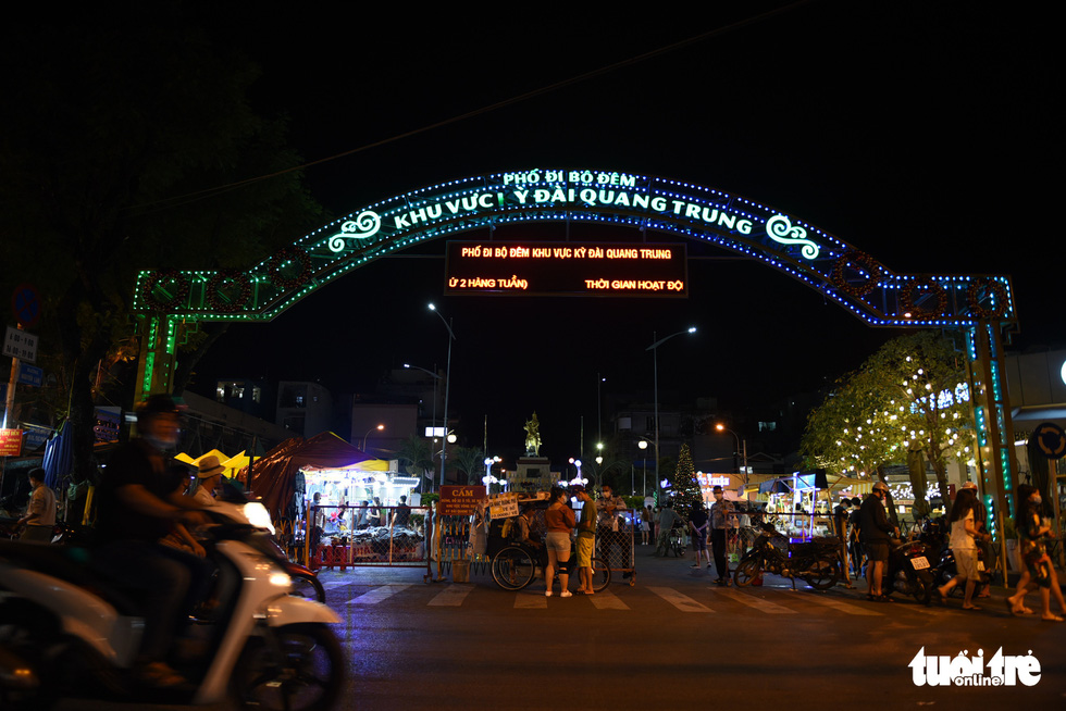 The entrance to the Ky Dai Quang Trung promenade in District 10, Ho Chi Minh City. Photo: Ngoc Phuong / Tuoi Tre