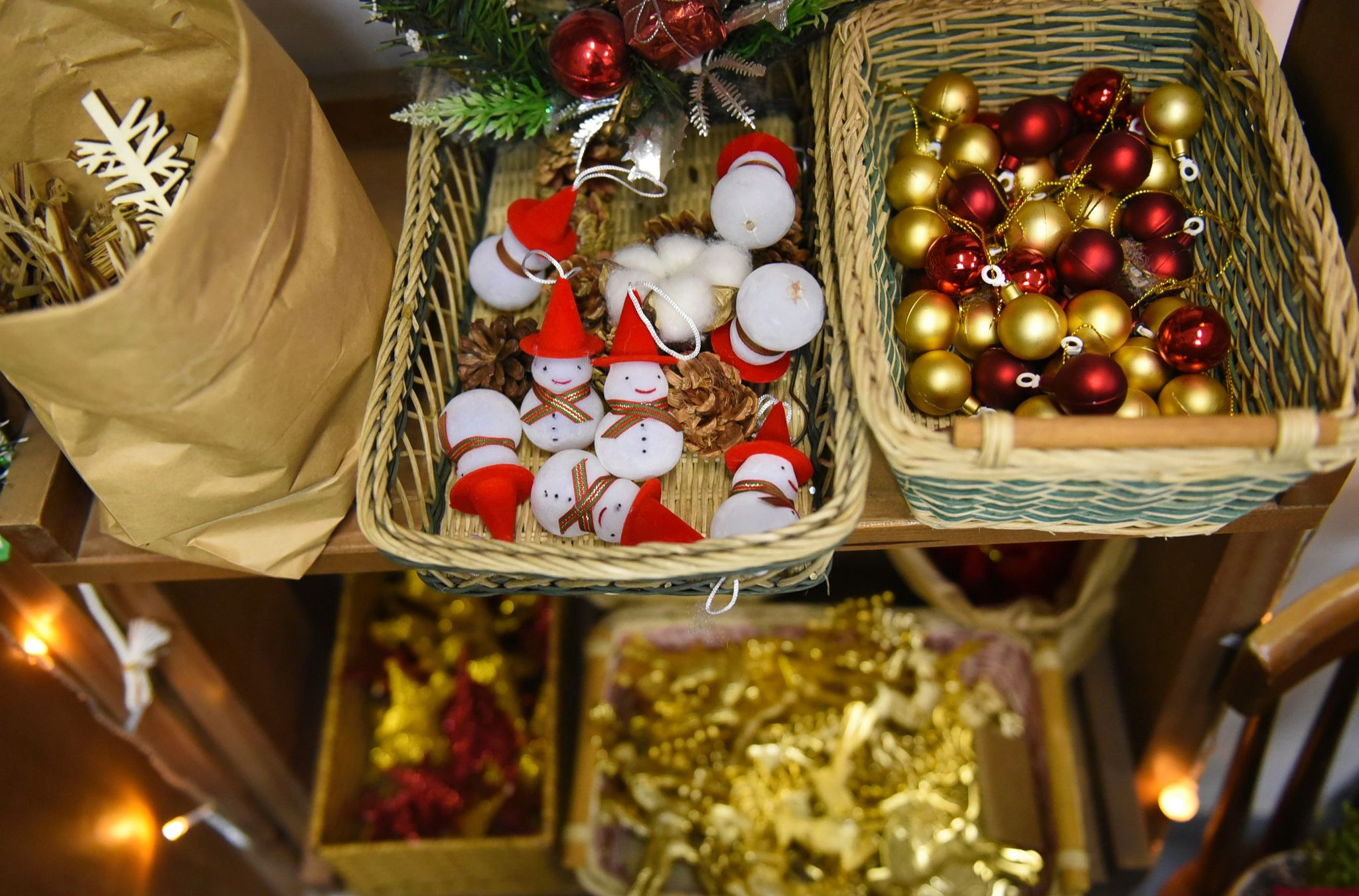 Christmas ornaments are sold at a shop in Ho Chi Minh City's District 3. Photo: Ngoc Phuong/ Tuoi Tre News
