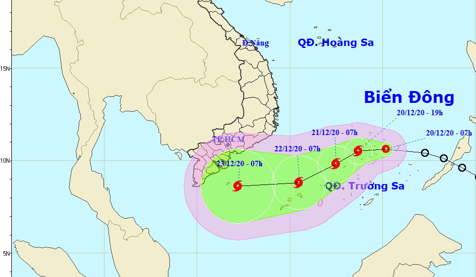 Tropical depression to become 14th storm in Vietnam this year