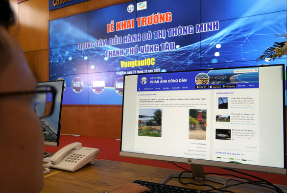 The website of Vung Tau's citizen feedback system is seen in this photo.  Photo: D.H. / Tuoi Tre