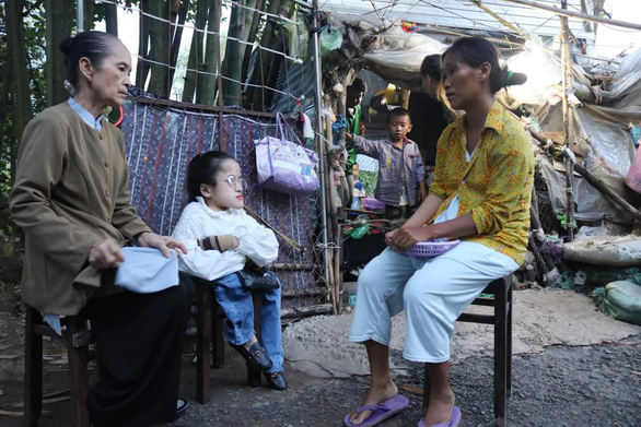 Nguyen Thuy Trang is seen during one volunteering trip in Vietnam's Mekong Delta in this photo supplied by herself