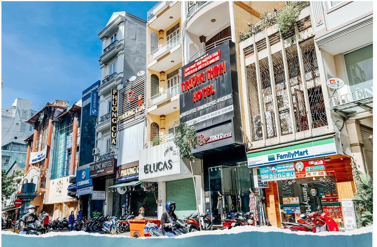 A dozen of hotels in HCMC's District 1 endure slow days due to border closure.