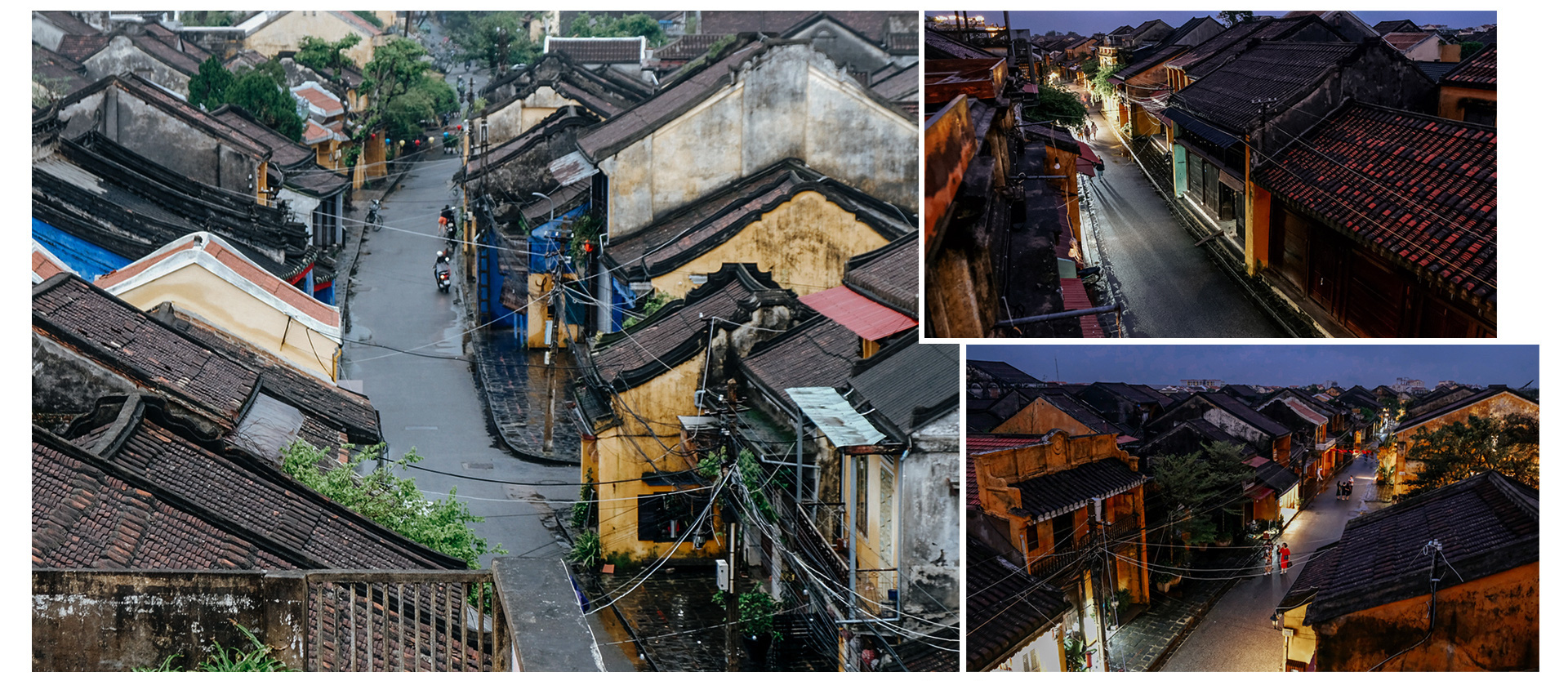 The streets of Hoi An City are empty in this photo taken on November 29