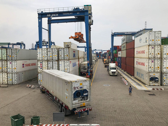 Containers are pictured at Cat Lai Port in District 2, Ho Chi Minh City. Photo: Truc Phuong / Tuoi Tre