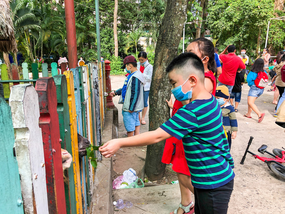 A boy plays at the Saigon Zoo and Botanical Gardens in District 1, Ho Chi Minh City, January 1, 2021. Photo: Chau Tuan / Tuoi Tre