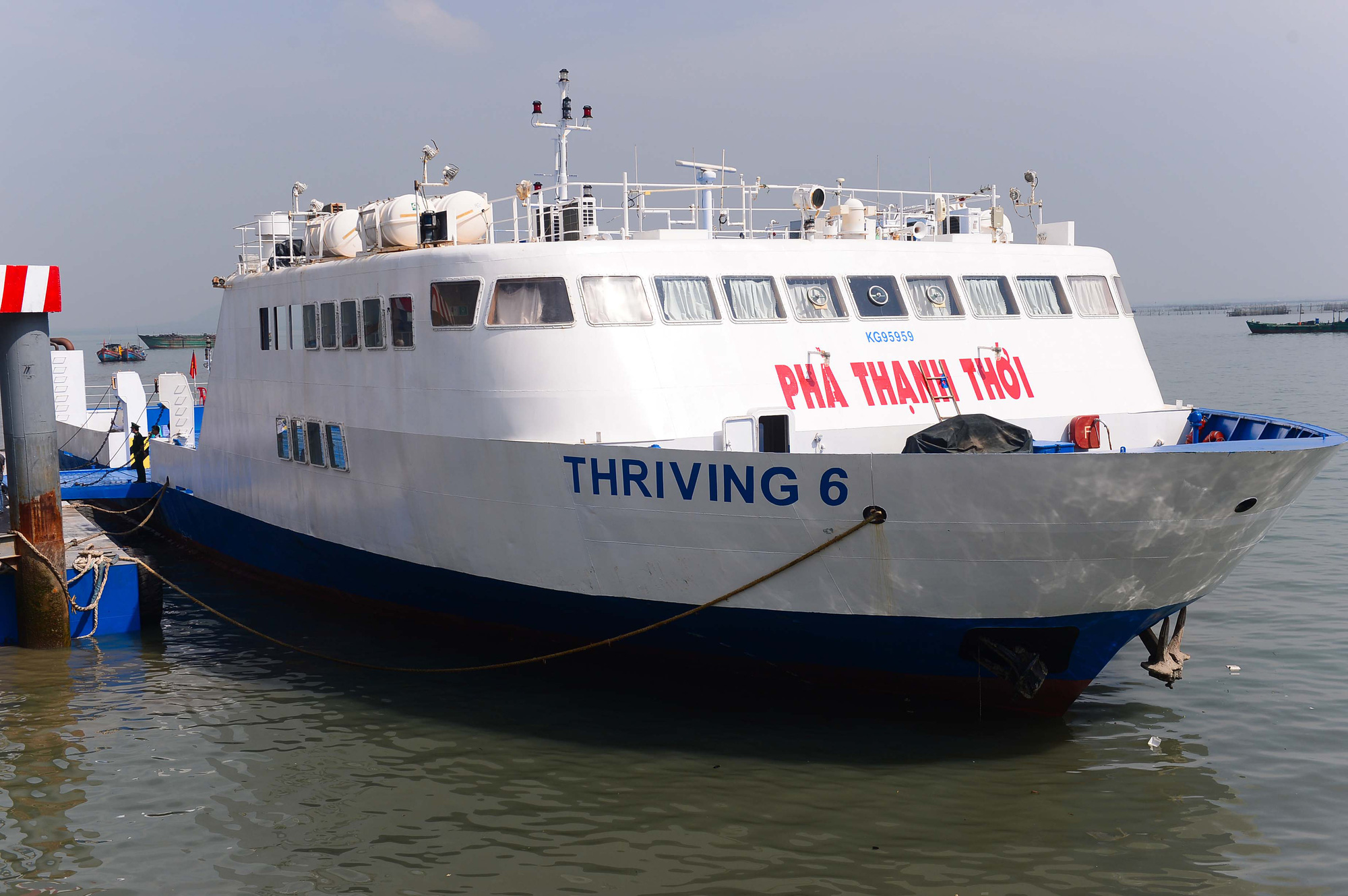 <em>A ferry of the Can Gio-Vung Tau route docks at a wharf on January 4, 2021. Photo:</em> Quang Dinh / Tuoi Tre