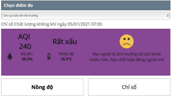 Hanoi's air pollution reaches 'very unhealthy' level