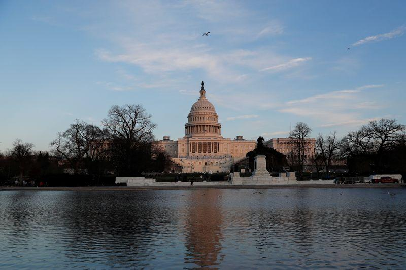 The U.S. Capitol building is seen a day after supporters of U.S. President Donald Trump occupied it, in Washington, U.S. January 7, 2021.