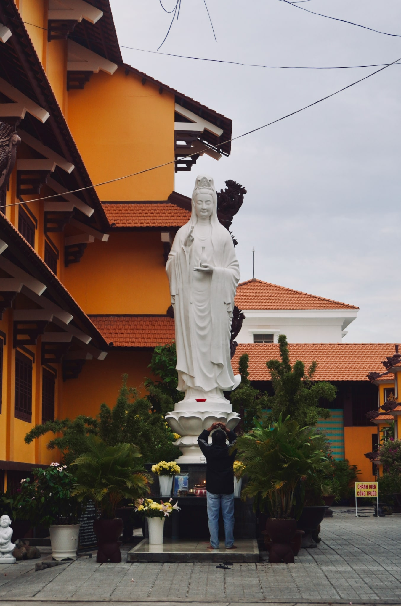 A statue of a Buddhist deity at Binh An Pagoda of Long Xuyen City. Photo: Xuan Tung / Tuoi Tre