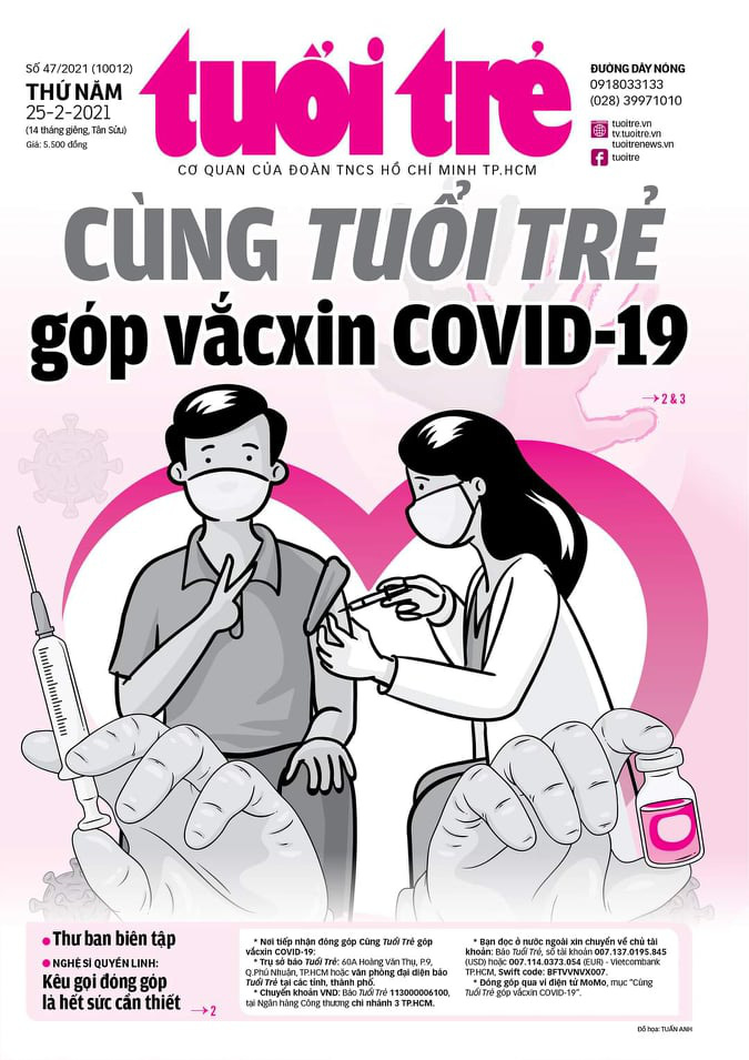 Tuoi Tre holds crowdfunding campaign for COVID-19 vaccination in Vietnam