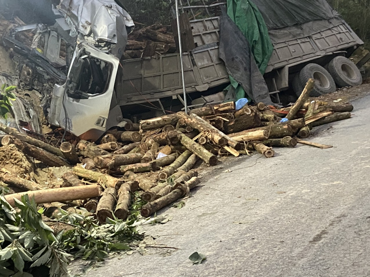 7 dead as timber truck crashes into mountainside in north-central Vietnam