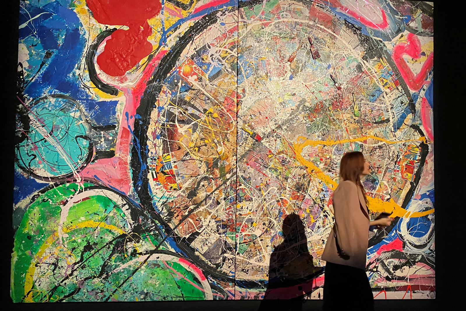 Artwork from world's largest canvas painting sells for $62 million in Dubai
