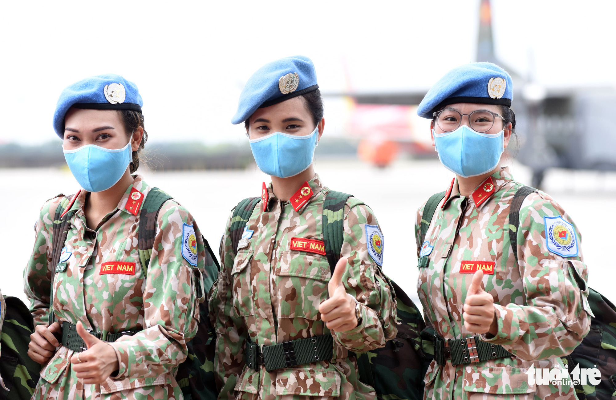 Female soldiers ready for their UN peacekeeping missions in South Sudan. Photo: Duyen Phan / Tuoi Tre