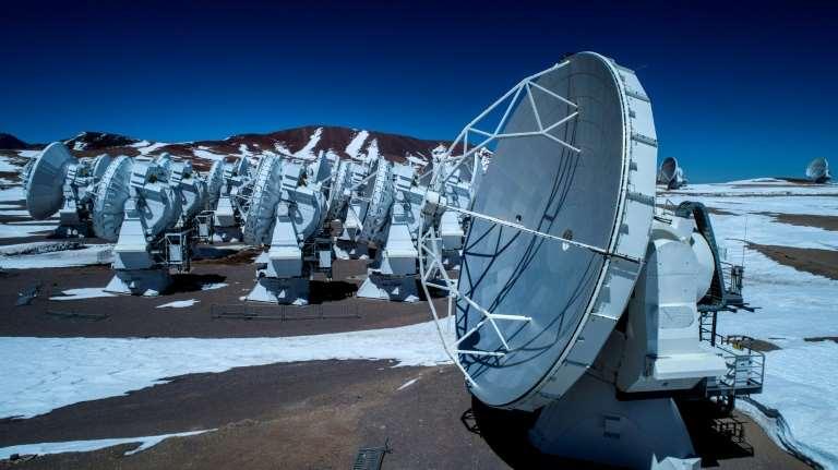 Radio telescope antennas of the European Southern Observatory's (ESO) Atacama Large Millimeter Array (ALMA) project at the Chajnantor plateau, in Atacama desert, Chile. Photo: AFP