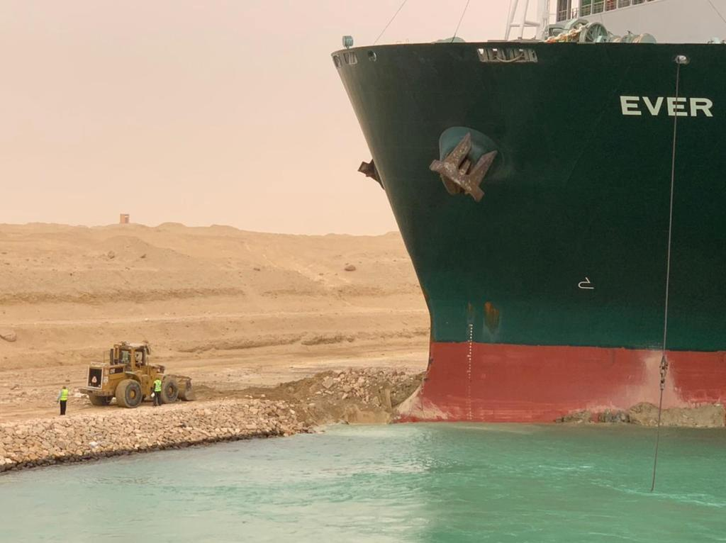 Stranded Suez ship's owner, insurers face millions in claims