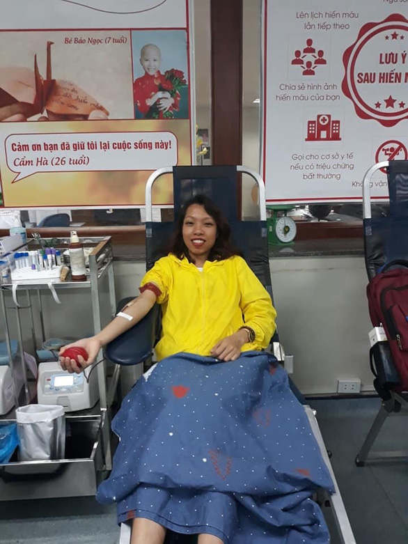 Nguyen Thi Nham, from Thanh Hoa Province in north-central Vietnam, has donated blood 11 times. Photo: N. Nguyen / Tuoi Tre