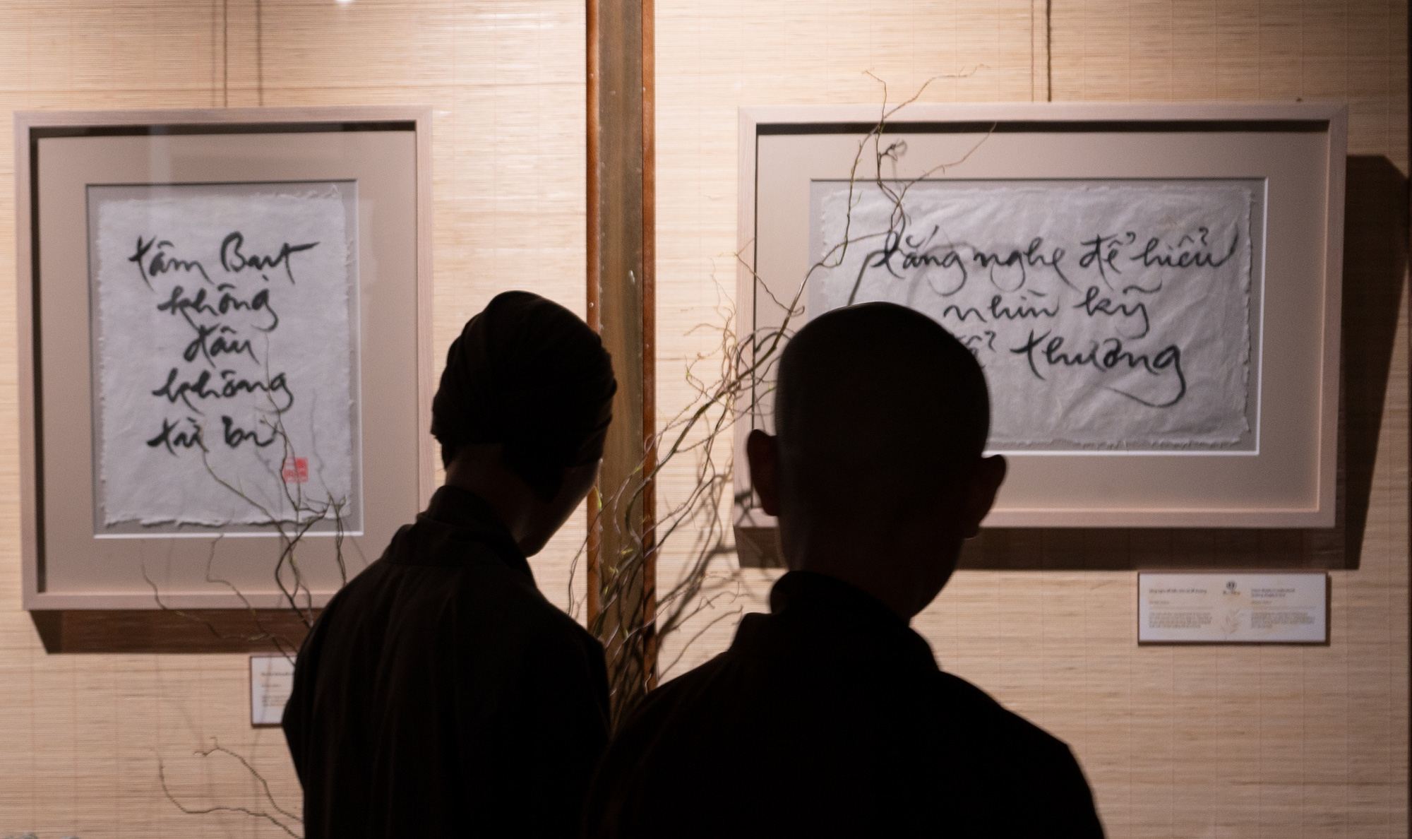 Calligraphy by Zen master Thich Nhat Hanh on display in Ho Chi Minh City