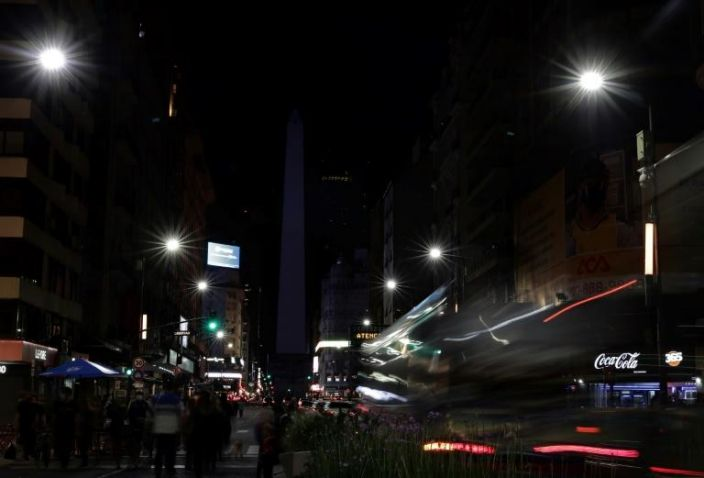 The lights dimmed at Buenos Aires' Obelisk as cities around the world marked Earth Hour