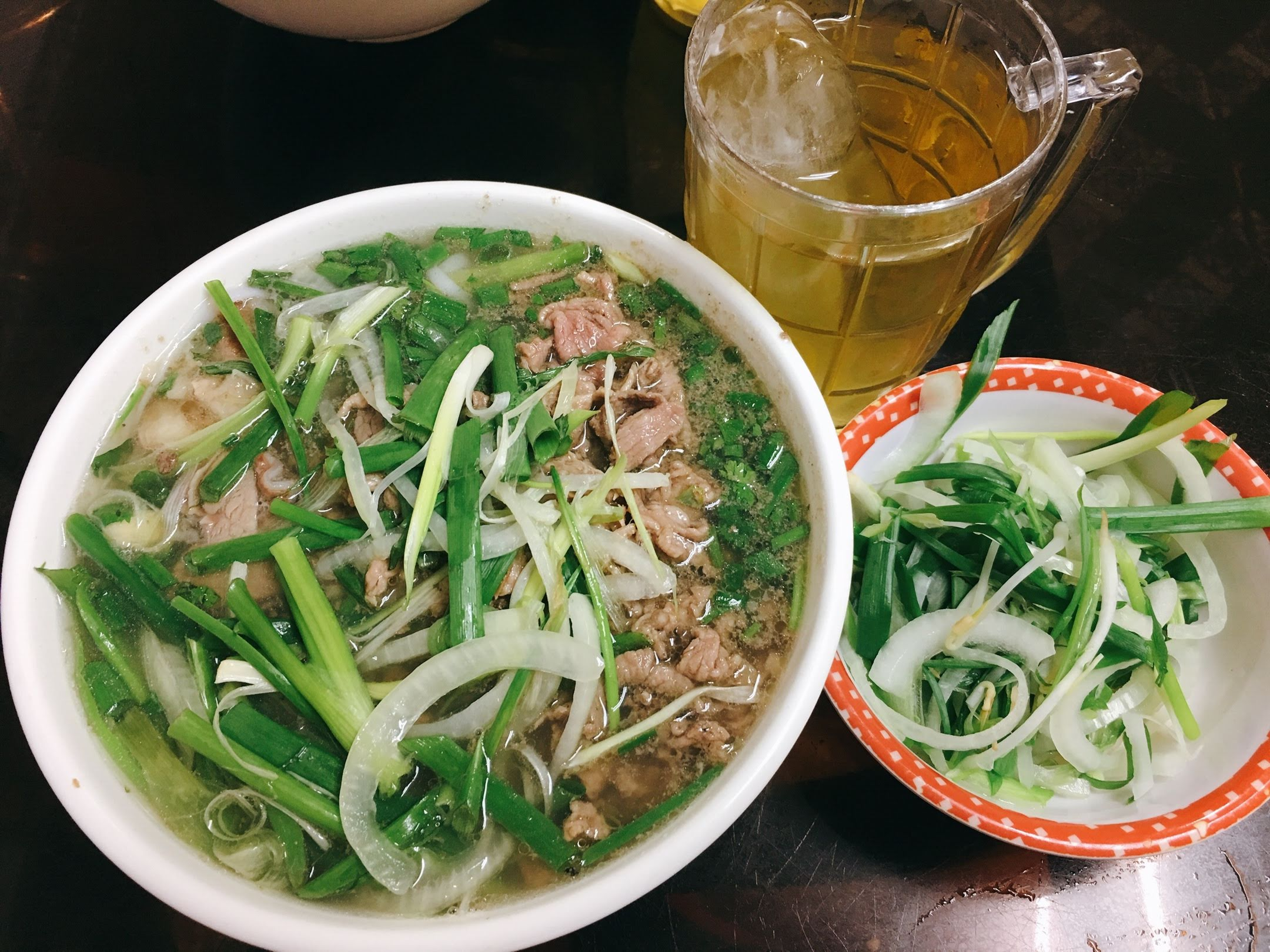 Northen-styled pho is served at a restaurant on Ly Chinh Thang Street in Ho Chi Minh City's District 3. Photo: Dong Nguyen / Tuoi Tre News