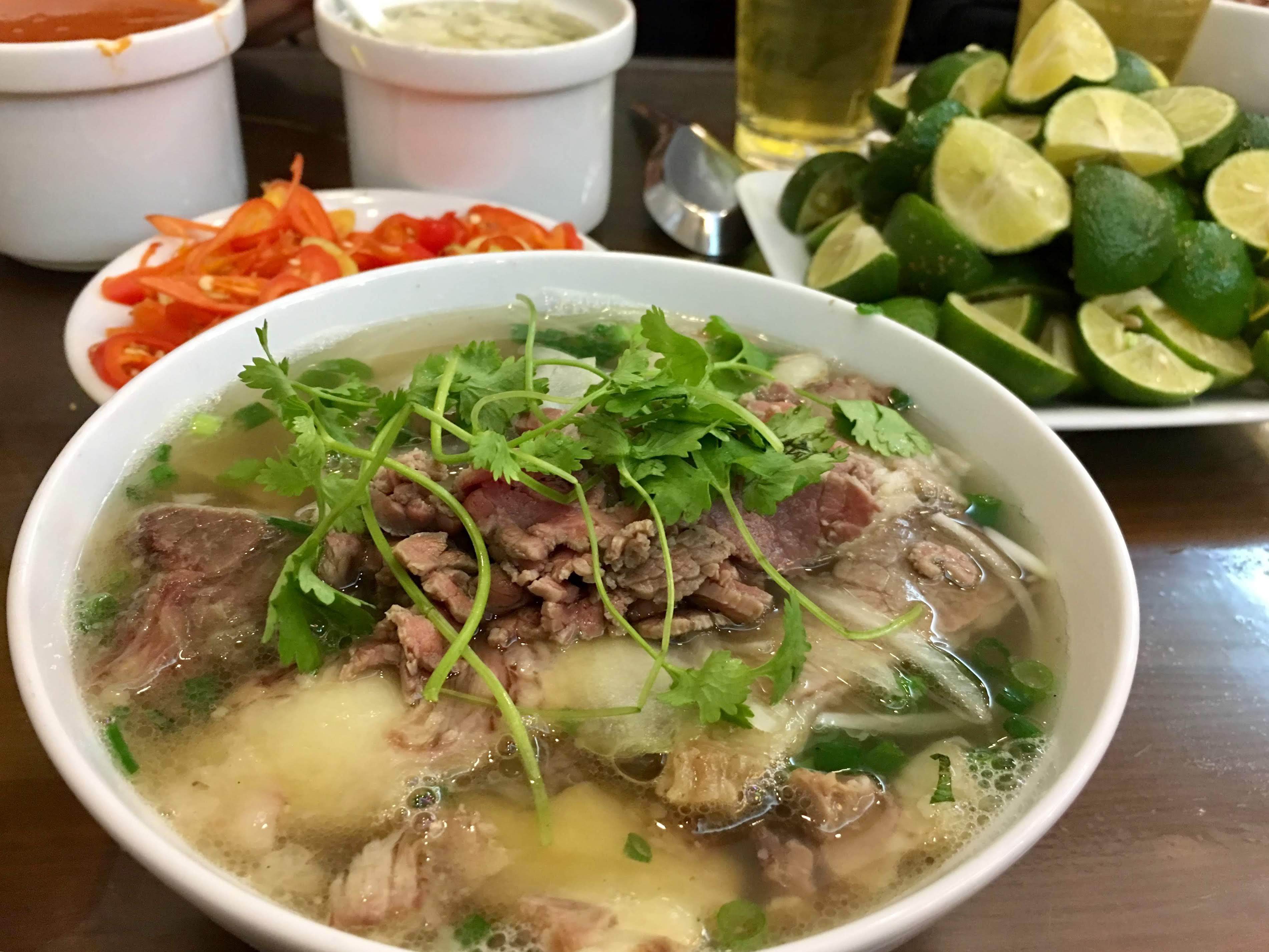 Northen-styled pho is served at a restaurant in Hanoi's Hoan Kiem District. Photo: Photo: Dong Nguyen / Tuoi Tre News