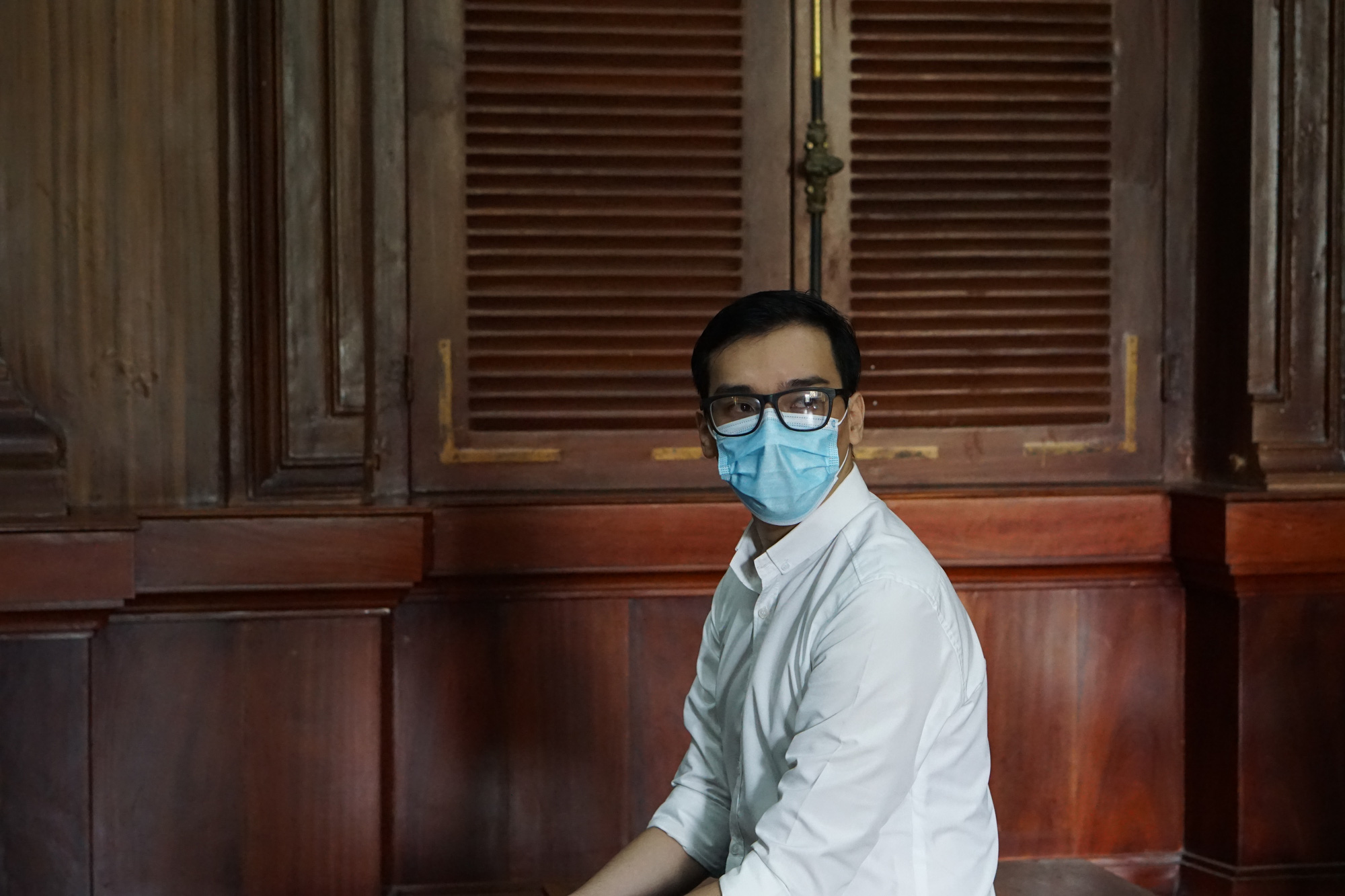 Duong Tan Hau during his trial at the Ho Chi Minh City People's Court on March 30, 2021. Photo: Ngoc Phuong / Tuoi Tre