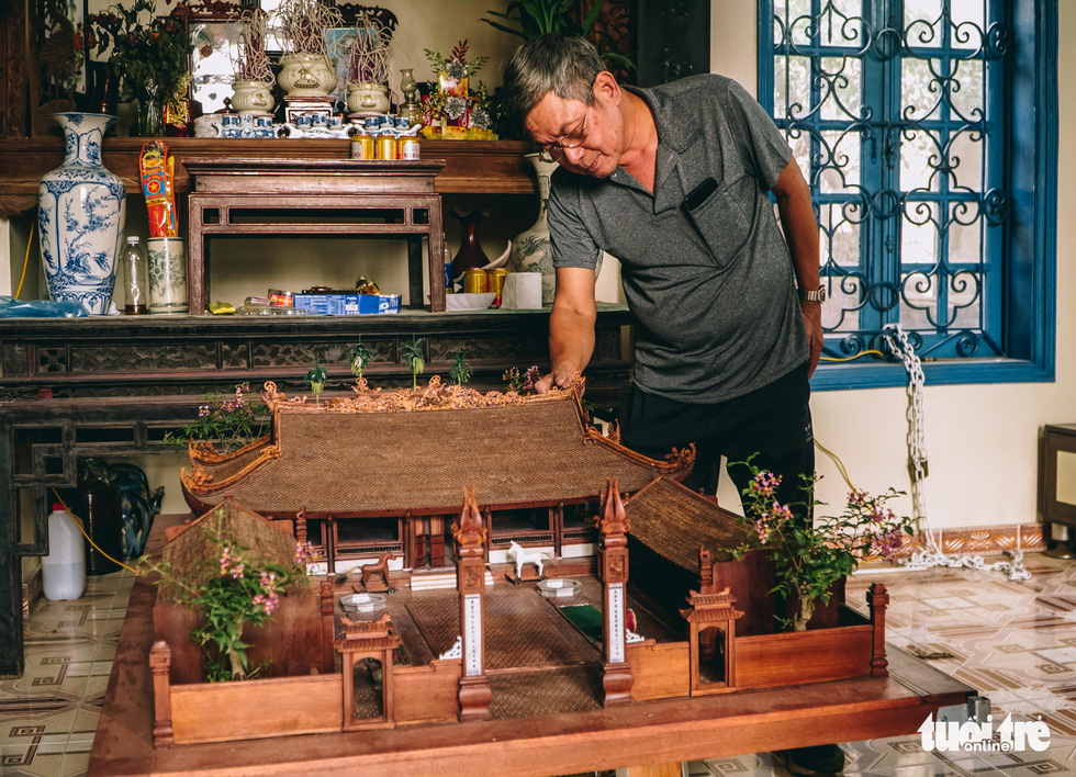 Man's painstakingly detailed scale model a homage to traditional Vietnamese architecture